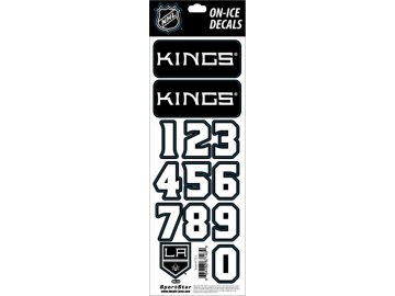 Samolepky na helmu Los Angeles Kings Decals Black