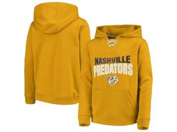 Dětská Mikina Nashville Predators Off The Ice Lace-Up Pullover Hoodie