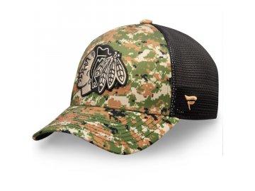 Kšiltovka Chicago Blackhawks Authentic Pro Military Appreciation Speed Flex