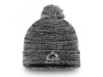 Zimní Čepice Colorado Avalanche Black and White