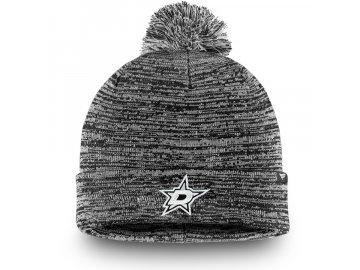 Zimní Čepice Dallas Stars Black and White