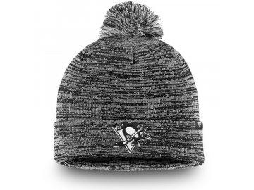 Zimní Čepice Pittsburgh Penguins Black and White