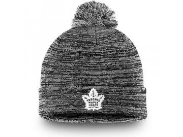 Zimní Čepice Toronto Maple Leafs Black and White
