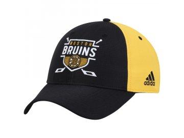 Kšiltovka Boston Bruins Adidas Coaches Two-Tone Hockey Shield