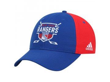 Kšiltovka New York Rangers Adidas Coaches Two-Tone Hockey Shield