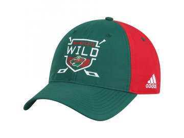 Kšiltovka Minnesota Wild Adidas Coaches Two-Tone Hockey Shield