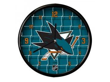 Nástěnné Hodiny San Jose Sharks Team Net Clock