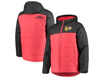 Zimní Bunda Chicago Blackhawks G-III Sports by Carl Banks Exploration Polyfill Hooded Parka