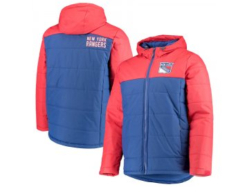 Zimní Bunda New York Rangers G-III Sports by Carl Banks Exploration Polyfill Hooded Parka