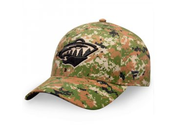 Kšiltovka  Minnesota Wild Authentic Pro Military Appreciation Alpha Adjustable