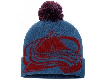 Zimní Čepice Colorado Avalanche Iconic Team Pop Cuffed Knit