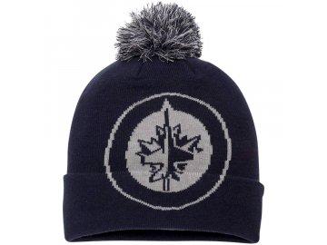 Zimní Čepice Winnipeg Jets Iconic Team Pop Cuffed Knit