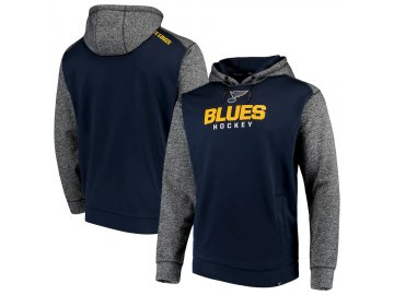 Mikina St. Louis Blues Static Fleece Pullover Hoodie