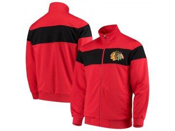 Bunda Chicago Blackhawks G-III Sports by Carl Banks Strength Full-Zip Track Jacket