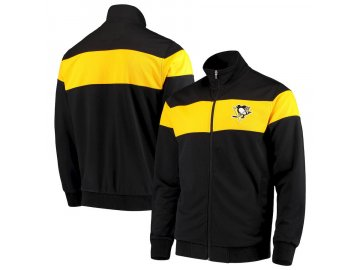 Bunda Pittsburgh Penguins G-III Sports by Carl Banks Strength Full-Zip Track Jacket