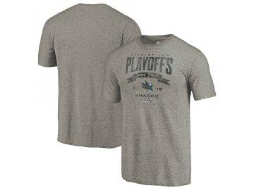 Tričko San Jose Sharks 2019 Stanley Cup Playoffs Bound Buzzer Beater Tri-Blend