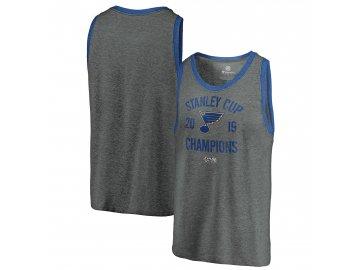 Pánské tričko St. Louis Blues 2019 Stanley Cup Champions  Ice Rink Tri-Blend Tank Top