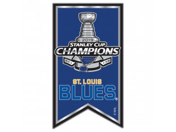 Odznak St. Louis Blues 2019 Stanley Cup Champions Team Banner Pin