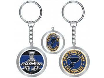 Přívěšek St. Louis Blues 2019 Stanley Cup Champions Spinning Keychain