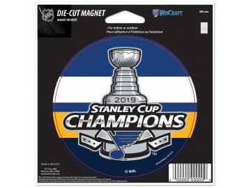 Magnet St. Louis Blues WinCraft 2019 Stanley Cup Champions 4.5'' x 6'' Indoor/Outdoor Magnet