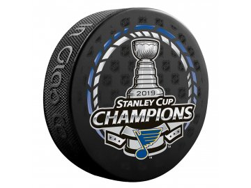 Puk St. Louis Blues Fanatics Authentic Unsigned 2019 Stanley Cup Champions Logo Hockey Puck