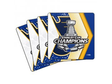 Set podtácků St. Louis Blues 2019 Stanley Cup Champions 4-Pack Neoprene Coaster Set