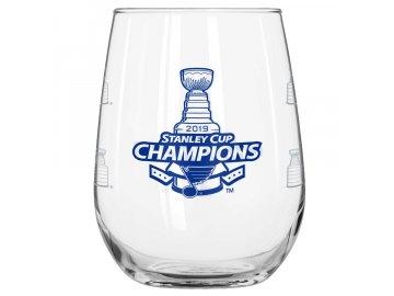 Sklenička St. Louis Blues 2019 Stanley Cup Champions 16oz. Curved Beverage Glass