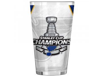 Sklenička St. Louis Blues 2019 Stanley Cup Champions 16oz. Sublimated Pint Glass