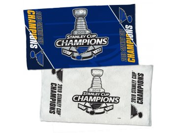 Ručník St. Louis Blues WinCraft 2019 Stanley Cup Champions Official Locker Room 2-Sided Towel