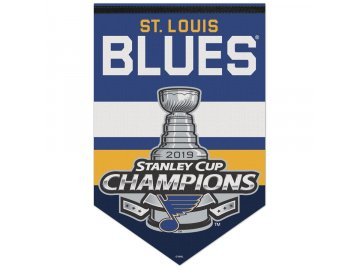 Vlajka St. Louis Blues WinCraft 2019 Stanley Cup Champions Locker Room Celebration 17'' x 26'' Banner