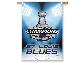 Vlajka St. Louis Blues 2019 Stanley Cup Champions Double Sided Sublimated House Flag