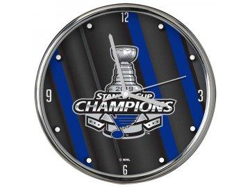 Hodiny St. Louis Blues 2019 Stanley Cup Champions 12'' Chrome Clock