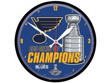 Hodiny St. Louis Blues WinCraft 2019 Stanley Cup Champions 12.75'' Round Wall Clock
