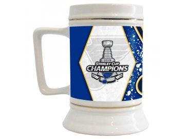 Půllitr St. Louis Blues 2019 Stanley Cup Champions 28oz. Stein Mug