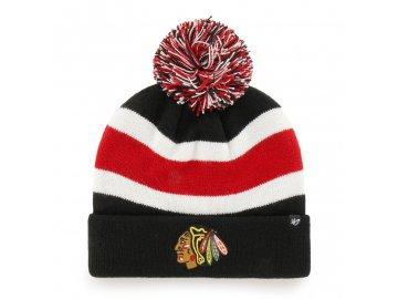372174 zimni cepice 47 brand breakaway cuff knit nhl chicago blackhawks cerna 75029[1]