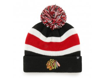 372174 zimni cepice 47 brand breakaway cuff knit nhl chicago blackhawks cerna 75029[1]