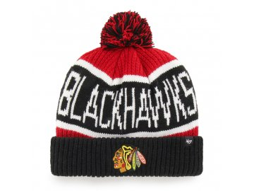 372177 zimni cepice 47 brand calgary cuff knit nhl chicago blackhawks cervena 75030[1]