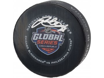 Podepsaný puk Global Series Czech Republic 2019 Generic GS19 Patrick Kane