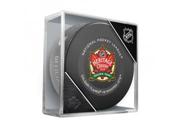 Puk 2019 NHL Heritage Classic Official Game Puck Winnipeg Jets vs. Calgary Flames