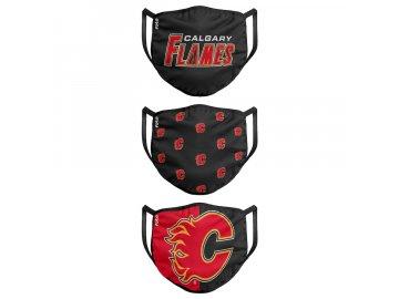 Roušky Calgary Flames FOCO - set 3 kusy (Velikost dospělá velikost)