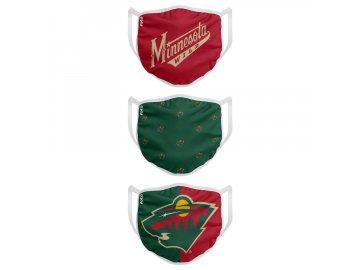 Roušky Minnesota Wild FOCO - set 3 kusy (Velikost dospělá velikost)