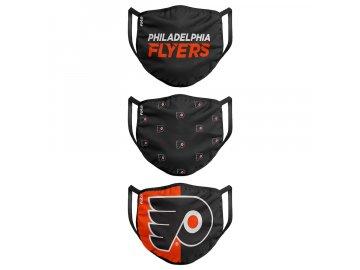 Roušky Philadelphia Flyers FOCO - set 3 kusy (Velikost dětská velikost)