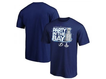 Pánské tričko Tampa Bay Lightning 2020 Stanley Cup Champions Parade Celebration Last Stop
