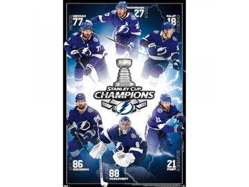 Plakát Tampa Bay Lightning 2020 Stanley Cup Champions 40'' x 25'' Poster