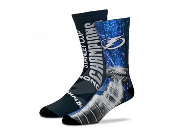 Ponožky Tampa Bay Lightning 2020 Stanley Cup Champions All Over Logo Sublimated Crew Socks