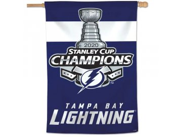 Vlajka Tampa Bay Lightning 2020 Stanley Cup Champions 28'' x 40'' Single-Sided Vertical Banner