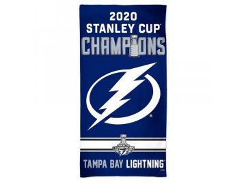 Plážová osuška Tampa Bay Lightning 2020 Stanley Cup Champions 30'' x 60'' Spectra Beach Towel
