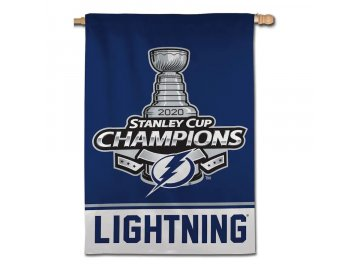 Vlajka Tampa Bay Lightning 2020 Stanley Cup Champions 28'' x 40'' Double-Sided Vertical Banner