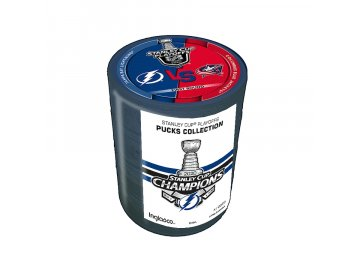 Set puků Tampa Bay Lightning 2020 Stanley Cup Champions 4-Puck Tower - Limited Edition of 2020
