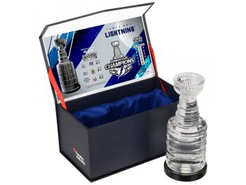 Skleněný mini pohár Tampa Bay Lightning 2020 Stanley Cup Champions Crystal Stanley Cup - Filled with Ice From the 2020 Stanley Cup Final
